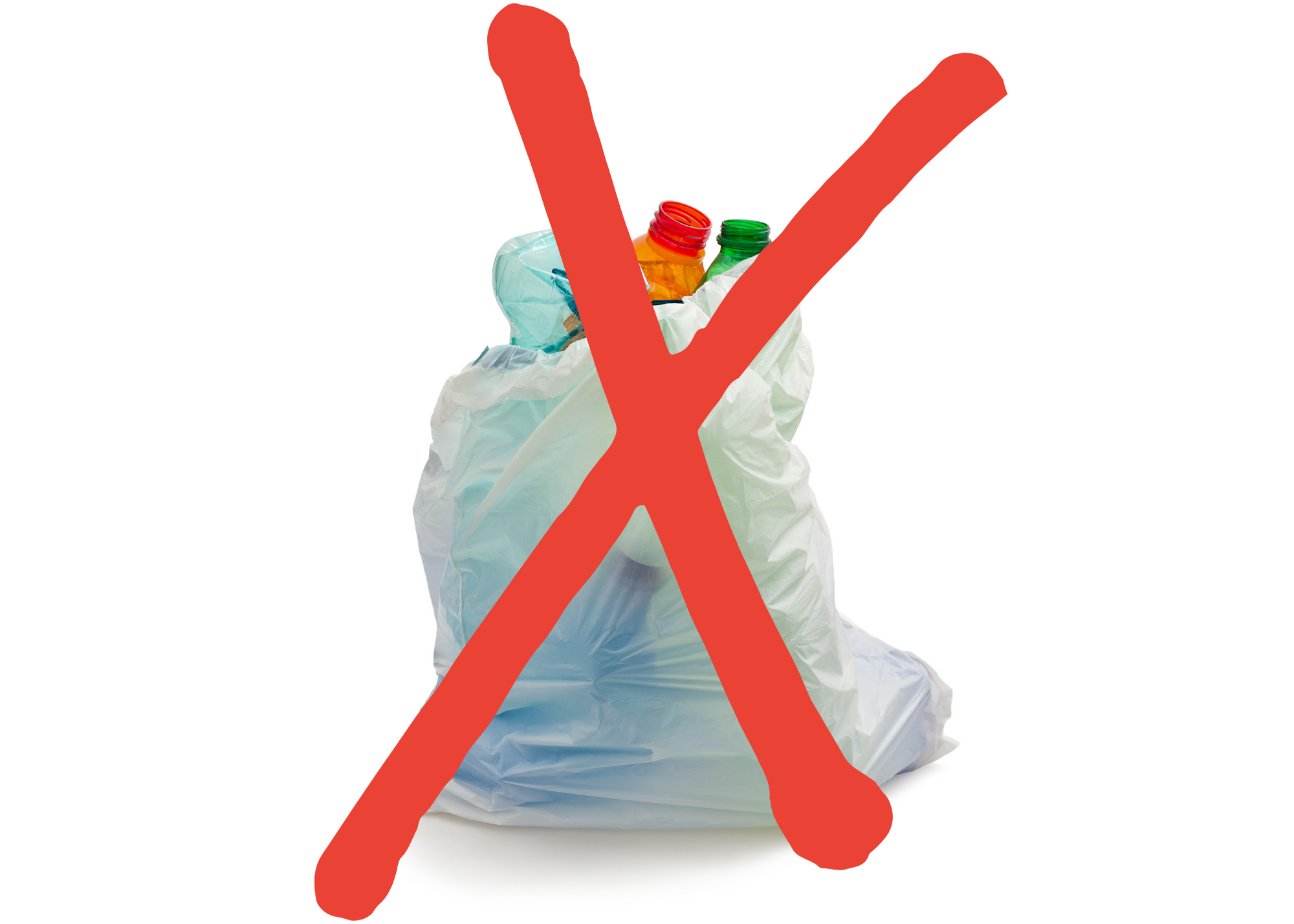 Please do not place recycling in a  plastic bag
